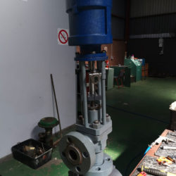 A comprehensive range of control valves & Enserve factory floor with Manual and Isolation valves and parts including various tools