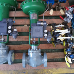 A comprehensive range of control valves & Manual and Isolation valves on display including gland packing