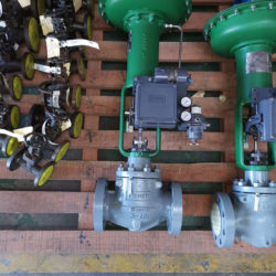 A comprehensive range of control valves & Manual and Isolation valves on display.
